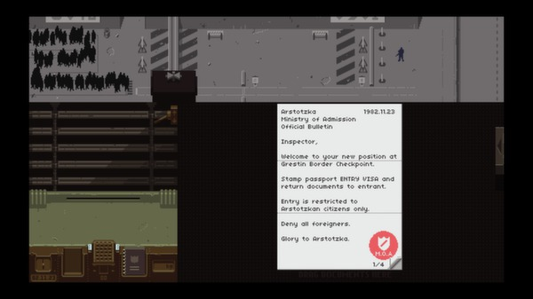 Papers,Please スクリーンショット2