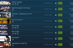 Steam:一週間限定セールが実施中!好評なアクションゲームなどがセール対象に